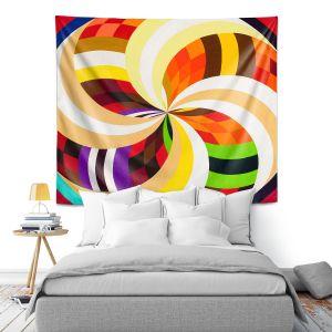 Artistic Wall Tapestry | Lorien Suarez - Geo Botanicals 24 | Abstract Geometric Pattern