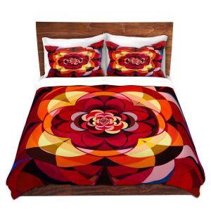 Artistic Duvet Covers and Shams Bedding | Lorien Suarez - Geo Botanicals 25 | Abstract Geometric Pattern