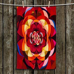 Unique Hanging Tea Towels | Lorien Suarez - Geo Botanicals 25 | Abstract Geometric Pattern
