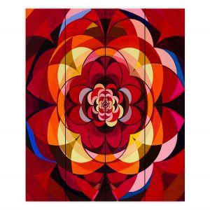 Decorative Wood Plank Wall Art | Lorien Suarez - Geo Botanicals 25 | Abstract Geometric Pattern