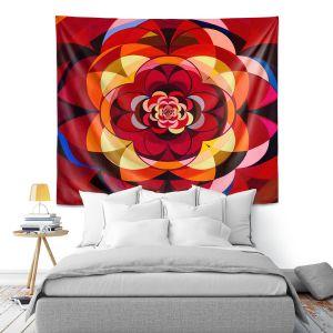 Artistic Wall Tapestry | Lorien Suarez - Geo Botanicals 25 | Abstract Geometric Pattern