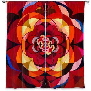 Decorative Window Treatments   Lorien Suarez - Geo Botanicals 25   Abstract Geometric Pattern