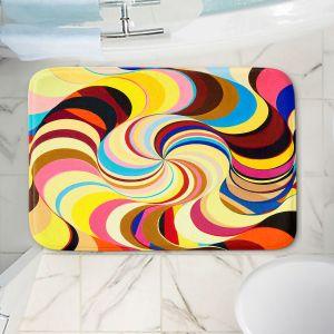 Decorative Bathroom Mats | Lorien Suarez - Geo Botanicals 26 | Abstract Geometric Pattern