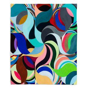 Decorative Fleece Throw Blankets | Lorien Suarez - Geo Botanicals 27 | Abstract Geometric Pattern