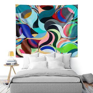 Artistic Wall Tapestry | Lorien Suarez - Geo Botanicals 27 | Abstract Geometric Pattern