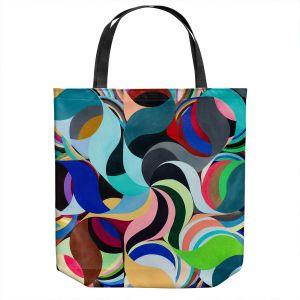 Unique Shoulder Bag Tote Bags   Lorien Suarez - Geo Botanicals 27   Abstract Geometric Pattern