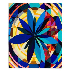 Decorative Fleece Throw Blankets | Lorien Suarez - Geo Botanicals 29 | Abstract Geometric Pattern
