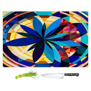 Artistic Kitchen Bar Cutting Boards | Lorien Suarez - Geo Botanicals 29 | Abstract Geometric Pattern