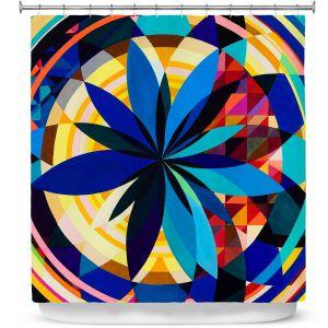 Premium Shower Curtains | Lorien Suarez - Geo Botanicals 29 | Abstract Geometric Pattern
