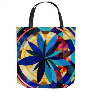 Unique Shoulder Bag Tote Bags | Lorien Suarez - Geo Botanicals 29 | Abstract Geometric Pattern