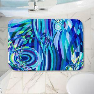 Decorative Bathroom Mats | Lorien Suarez - Geo Botanicals 32 | Abstract Geometric Pattern