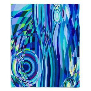 Decorative Fleece Throw Blankets | Lorien Suarez - Geo Botanicals 32 | Abstract Geometric Pattern