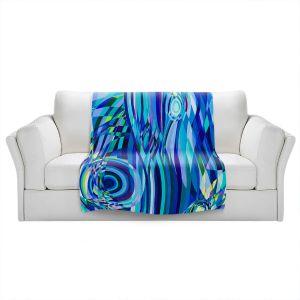 Artistic Sherpa Pile Blankets   Lorien Suarez - Geo Botanicals 32   Abstract Geometric Pattern