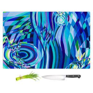 Artistic Kitchen Bar Cutting Boards | Lorien Suarez - Geo Botanicals 32 | Abstract Geometric Pattern
