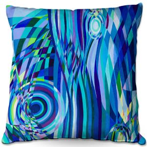 Throw Pillows Decorative Artistic | Lorien Suarez - Geo Botanicals 32 | Abstract Geometric Pattern