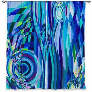 Decorative Window Treatments   Lorien Suarez - Geo Botanicals 32   Abstract Geometric Pattern