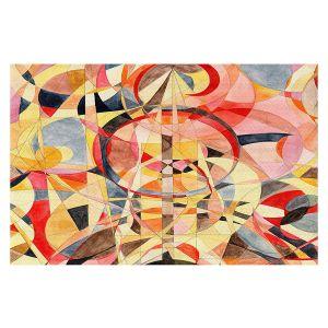 Decorative Floor Covering Mats   Lorien Suarez - Geo Botanicals 40   Abstract Geometric Pattern