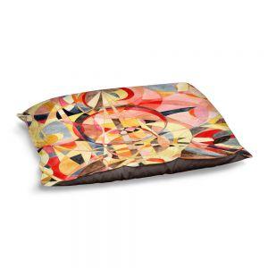 Decorative Dog Pet Beds | Lorien Suarez - Geo Botanicals 40 | Abstract Geometric Pattern