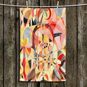 Unique Hanging Tea Towels | Lorien Suarez - Geo Botanicals 40 | Abstract Geometric Pattern