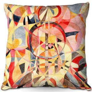 Throw Pillows Decorative Artistic | Lorien Suarez - Geo Botanicals 40 | Abstract Geometric Pattern