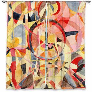 Decorative Window Treatments | Lorien Suarez - Geo Botanicals 40 | Abstract Geometric Pattern