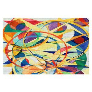 Decorative Floor Covering Mats   Lorien Suarez - Geo Botanicals 41   Abstract Geometric Pattern