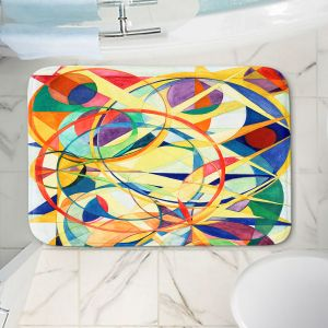 Decorative Bathroom Mats | Lorien Suarez - Geo Botanicals 41 | Abstract Geometric Pattern