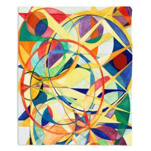 Decorative Fleece Throw Blankets | Lorien Suarez - Geo Botanicals 41 | Abstract Geometric Pattern