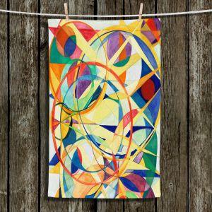 Unique Hanging Tea Towels | Lorien Suarez - Geo Botanicals 41 | Abstract Geometric Pattern