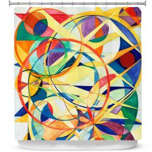Premium Shower Curtains | Lorien Suarez - Geo Botanicals 41 | Abstract Geometric Pattern
