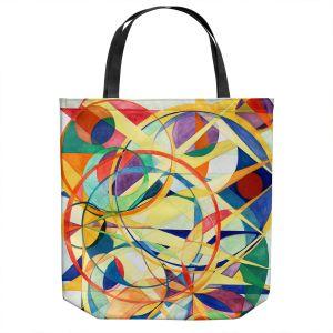 Unique Shoulder Bag Tote Bags | Lorien Suarez - Geo Botanicals 41 | Abstract Geometric Pattern