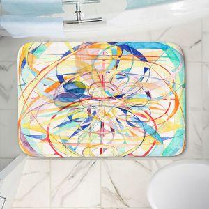 Decorative Bathroom Mats | Lorien Suarez - Geo Botanicals 42 | Abstract Geometric Pattern