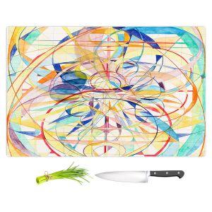 Artistic Kitchen Bar Cutting Boards | Lorien Suarez - Geo Botanicals 42 | Abstract Geometric Pattern