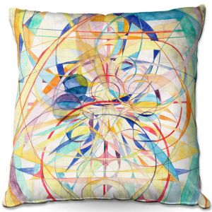 Throw Pillows Decorative Artistic | Lorien Suarez - Geo Botanicals 42 | Abstract Geometric Pattern