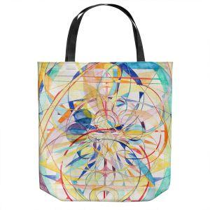 Unique Shoulder Bag Tote Bags | Lorien Suarez - Geo Botanicals 42 | Abstract Geometric Pattern
