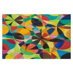 Decorative Floor Covering Mats   Lorien Suarez - Geo Botanicals 44   Abstract Geometric Pattern
