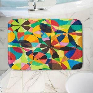 Decorative Bathroom Mats | Lorien Suarez - Geo Botanicals 44 | Abstract Geometric Pattern