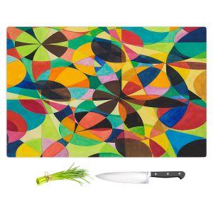 Artistic Kitchen Bar Cutting Boards | Lorien Suarez - Geo Botanicals 44 | Abstract Geometric Pattern
