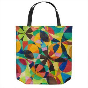 Unique Shoulder Bag Tote Bags | Lorien Suarez - Geo Botanicals 44 | Abstract Geometric Pattern