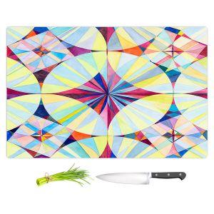 Artistic Kitchen Bar Cutting Boards   Lorien Suarez - Geo Botanicals 46   Abstract Geometric Pattern