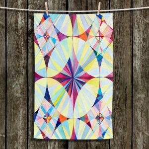Unique Bathroom Towels | Lorien Suarez - Geo Botanicals 46 | Abstract Geometric Pattern