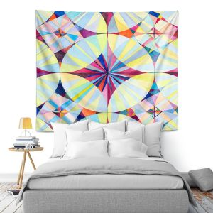 Artistic Wall Tapestry | Lorien Suarez - Geo Botanicals 46 | Abstract Geometric Pattern