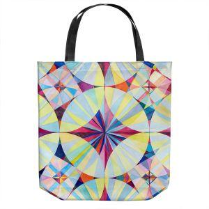 Unique Shoulder Bag Tote Bags | Lorien Suarez - Geo Botanicals 46 | Abstract Geometric Pattern