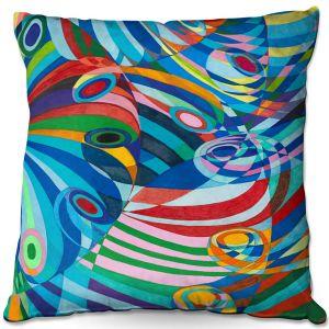 Throw Pillows Decorative Artistic | Lorien Suarez - Geo Botanicals 47 | Abstract Geometric Pattern