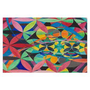 Decorative Floor Covering Mats   Lorien Suarez - Geo Botanicals 50   Abstract Geometric Pattern