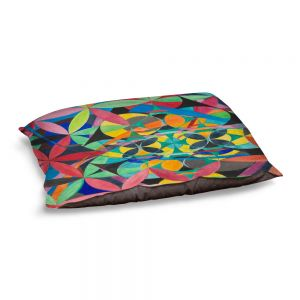 Decorative Dog Pet Beds | Lorien Suarez - Geo Botanicals 50 | Abstract Geometric Pattern