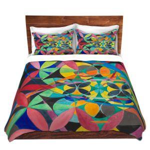 Artistic Duvet Covers and Shams Bedding | Lorien Suarez - Geo Botanicals 50 | Abstract Geometric Pattern