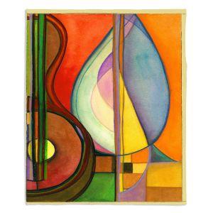 Decorative Fleece Throw Blankets | Lorien Suarez - Guitarra Alegre 3 | Abstract Music