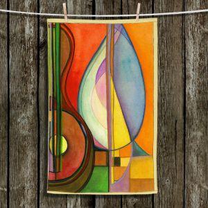 Unique Bathroom Towels | Lorien Suarez - Guitarra Alegre 3 | Abstract Music
