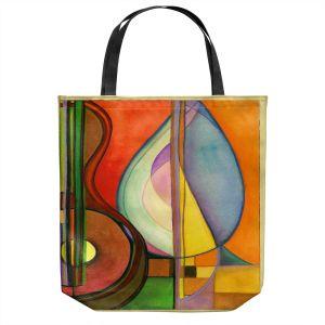 Unique Shoulder Bag Tote Bags   Lorien Suarez - Guitarra Alegre 3   Abstract Music